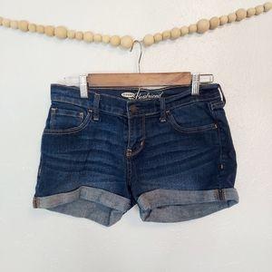 Old Navy Boyfriend cuffed jean denim shorts